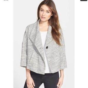 Eileen Fisher Tweed Crop A Line Swing Jacket